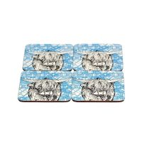 Gillian Kyle - Tartan Highland Cow Coaster